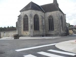 Travaux Place de la Mairie à Bienville