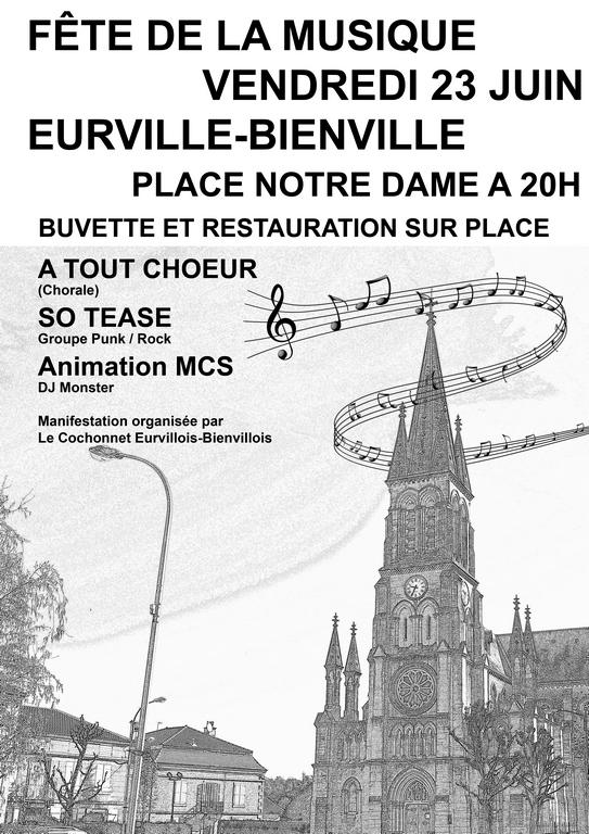 F te de la musique eurville bienville for Eurville bienville