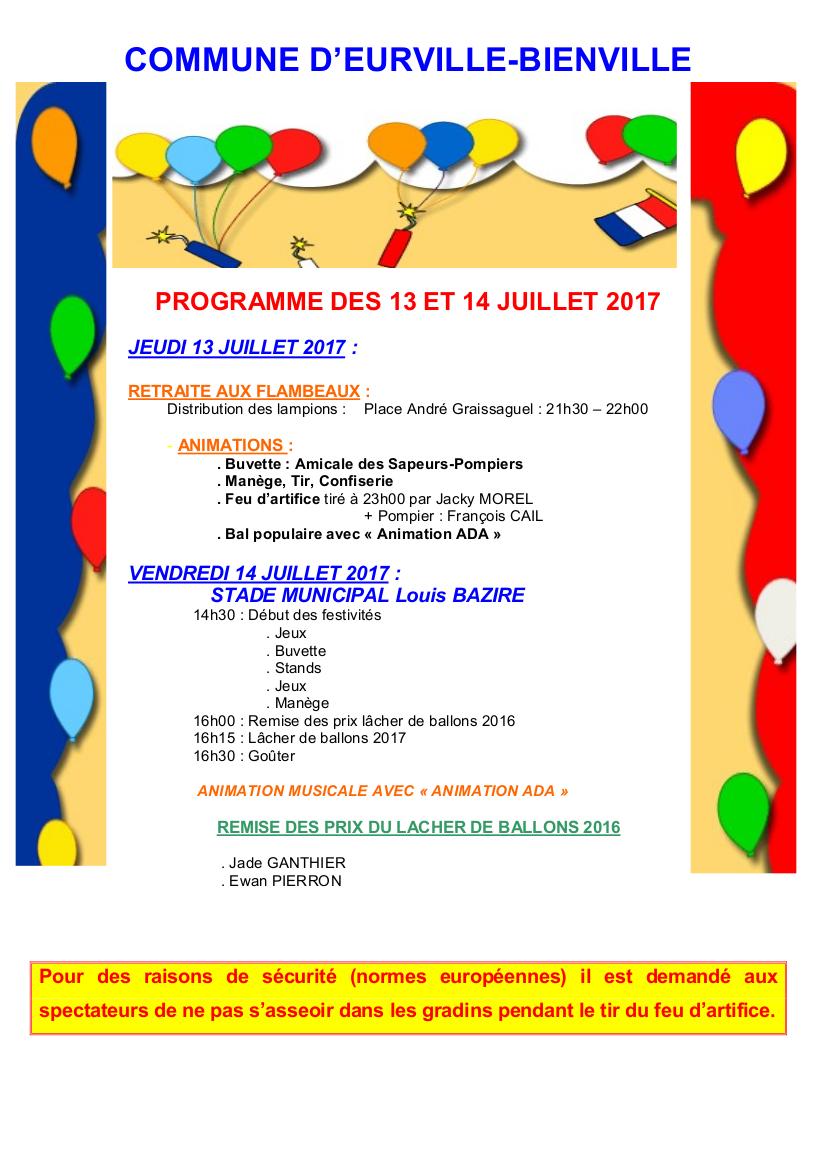 13 14 juillet eurville bienville for Eurville bienville